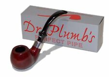 Dr Plumb Stand Easy Red Apple Briar Pipe - 4434