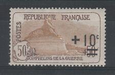 FRANCOBOLLI 1922 FRANCIA PRO ORFANI C.10 SU 50+50 MLH Z/4100