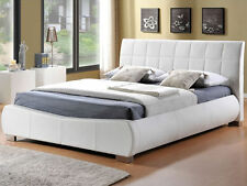 COLARADO WHITE FAUX LEATHER KING SIZE BED 5FT. NEW IN BOX