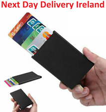 Mens Womens ID Credit Card Holder RFID Protector Aluminum Wallet Card Case