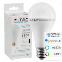 Smart LED Bulb Wi-Fi RGB Dimmable 15W E27, Works with Alexa & Google,App control