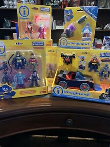 Imaginext DC Super Friends Lot of 8 Brand New Sets - Batmobile, Green Lantern ++