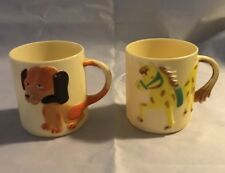 New listing Vintage Children's Drinking Cups - Spencer Gifts 1982 & 1983