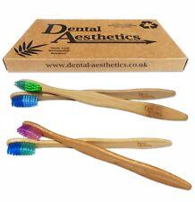 Bulk Bamboo Adult Toothbrushes x 12 ~ Individual Packaged Medium Firm Bristles