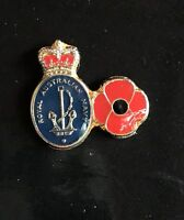 Navy Poppy Lapel Pin *Remembrance Day * ANZAC Day*NEW 25mm