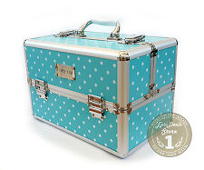 Mary Kay Consultant Aluminum Travel Cosmetics Organizer Makeup Case, Blue, NIB