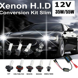 Replace HID Xenon Fog Automotive Headlights kit H1 H3 H7 H11 9005 4300k-30000k