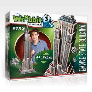 WREBBIT 3D PUZZLE THE CLASSICS COLLECTION EMPIRE STATE BUILDING 975 PC #W3D-2007