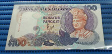 Malaysia $100 Seratus Ringgit Note ZV5410732 by United States Banknote Company