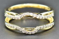 14K Yellow Gold Fn 1 Ct Infinity Diamond Enhancer Wrap Solitaire Engagement Ring