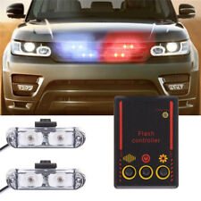 3 Modes Red/Blue LED Car Police Strobe Dash Flash Light Flashing Emergency Lamp