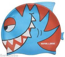 BLUE PIRANHA CRITTER Learn to Swim Cap  Silicone Kids Swimming Training 39700-BP