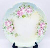 """Antique 1898-1923 J&C Louise Bavaria Hand Painted Roses Signed Cabinet Plate 6"""""""