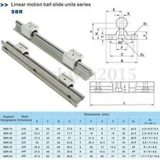 2 set SBR16-600mm 16mm Linear Side Guide Rail Shaft+4pc SBR16UU bearing Block