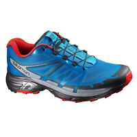 Salomon Women's Wings Pro 2 W-W Trail Runner Blue Jay/ Fog Blue/ Lava Orange