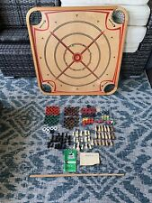 Vintage Genuine Carrom 166 Game Board w/ 144 Pieces & 166 Game Rulebook