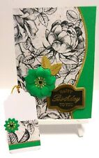 Handmade Birthday Card: Jewel Rose (Emerald)