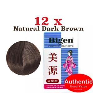 12 Hair Dyeing Color Permanent Powder BIGEN Amonia Sodium Perborate Free