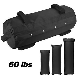60lbs Adjustable Weight Workout Sandbag Fitness Heavy Duty Sand Bag w 4 Handles