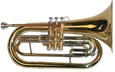 Bb Bass trumpet, gold, with case and mouthpiece - Marching baritone