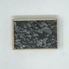 Inkadinkado Wooden Rubber Stamp #5390 Stones Pebbles Landscape Background Rocks