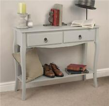 Vintage Maria 2 Drawer Grey Console Dressing Table Unit Desk Hallway Kitchen