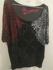DESIGUAL patterned loose fit top M