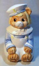 VINTAGE Dutch Boy Bear Sailor Ceramic Cookie Jar