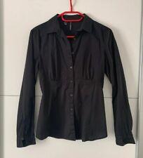 Mango Hemd Bluse S 36 Obertei schwarz Shirt Top