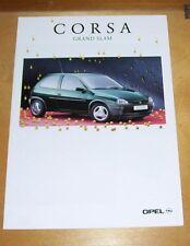 OPEL CORSA GRAND SLAM SALES BROCHURE JAN 1995 IN GERMAN