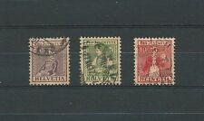 SWISS / SUISSE - 1917 YT 154 à 156 / MI 133 à 135 - OBL. / USED - COTE 87,50 €