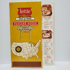 Vintage Table Menu Kettle Restaurant Pancake House Houston Texas 1976