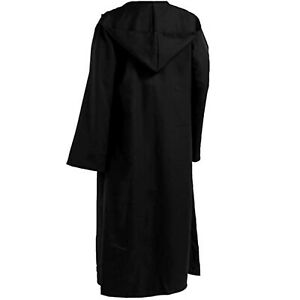 Adult Unisex Long Hooded Cape Cloak Costume Witch Robe Party Cosplay Fancy Dress