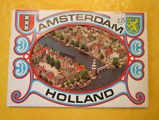 Old Benelux Postcard Accordion Booklet Amsterdam Holland 8 Color Paper Postcards