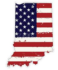 Indiana State (J15) USA Flag Distressed Vinyl Decal Sticker Car/Truck Laptop