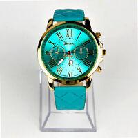 New Geneva Women Watch Roman Numerals Leather Analog Quartz Wrist Watches Hot