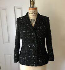 Gianni Versace Women's COUTURE Medusa Silk Lined Black & Gold Wool Blazer Jacket