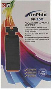 Aquarium Oberflächenabsauger Kahmhautentferner skimmer Ölfilmentferner SK 200