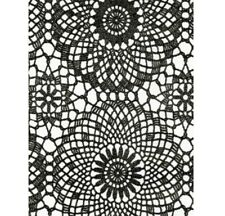 Klebefolie - Möbelfolie Spitzen Design schwarz -  45 cm x 200 cm Dekorfolie