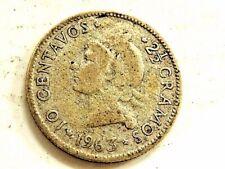 1963 Dominican Republic Ten (10) Centavos Silver Commemorative Coin
