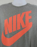 Mens Nike Swoosh Big Spell-out Graphic T Shirt Size XL Gray Athletic Cut Cotton