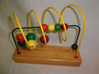 "Unbranded Wooden Bead Colorful Sensory Toddler Toy Puzzle 9"" x 8"""