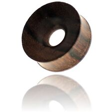 """PAIR OF 1"""" 1/16 INCH (28MM) CONCAVE SONO WOOD TUNNELS PLUGS"""