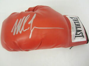 Mike Tyson signed autographed red Everlast boxing glove TriStar COA