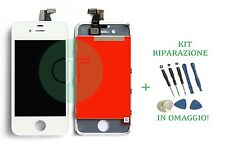 TOUCH SCREEN VETRO LCD DISPLAY IPHONE 4S BIANCO