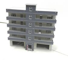 HO scale Painted building (6 -storey Building) 1:100 gauge model train layout G