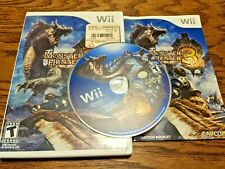 Monster Hunter Tri (Nintendo Wii, 2010) Complete Good Condition Fun Game !