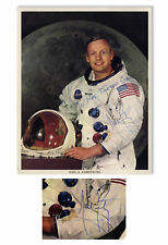 Neil Armstrong Signed 8'' x 10'' Photo in His White Suit