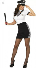 Womens Sexy SMIFFYS British COP POLICE Adult Fancy Dress Costume Outfit