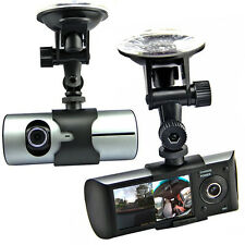 "2.7"" LCD HD Dual Camera Car DVR Black Box w/ GPS Tracker + Google Map + G-Sensor"